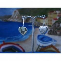 LE 0123 Earrings Shiva Eye Shell Silver