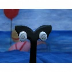 LE 0127s Earrings Shiva Eye Shell Silver