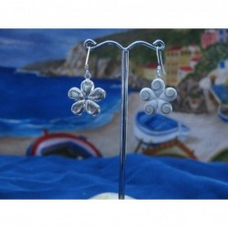 LE 0129 Earrings Shiva Eye Shell Silver