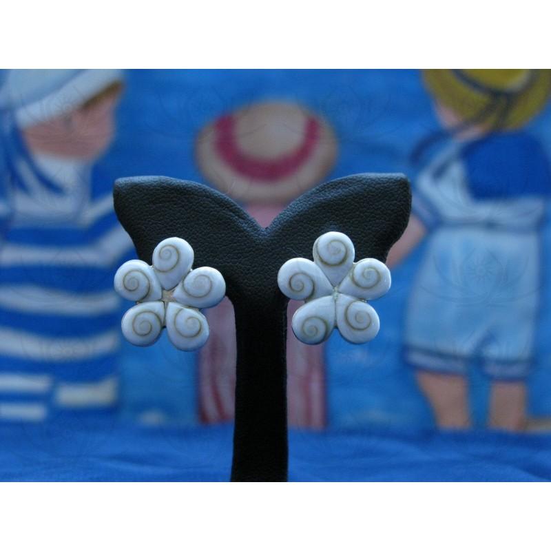 LE 0130s Earrings Shiva Eye Shell Silver