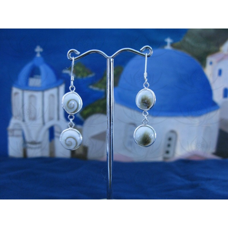 LE 0133 Earrings Shiva Eye Shell Silver