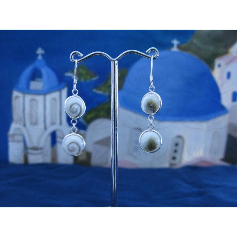LE 0133 Earrings Shiva Eye Shell Silver