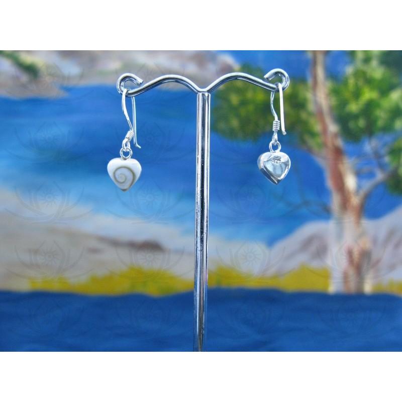 LE 0138 Earrings Shiva Eye Shell Silver