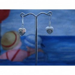 LE 0139 Earrings Shiva Eye Shell Silver