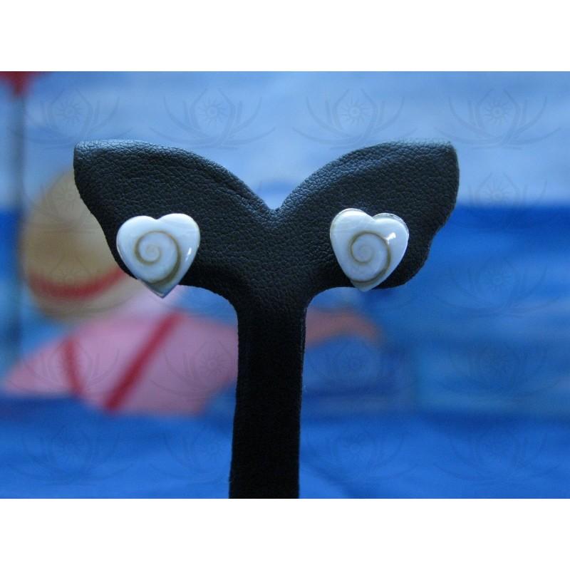 LE 0139s Earrings Shiva Eye Shell Silver