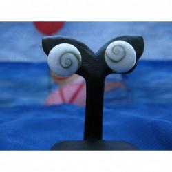 LE 0142s Earrings Shiva Eye Shell Silver