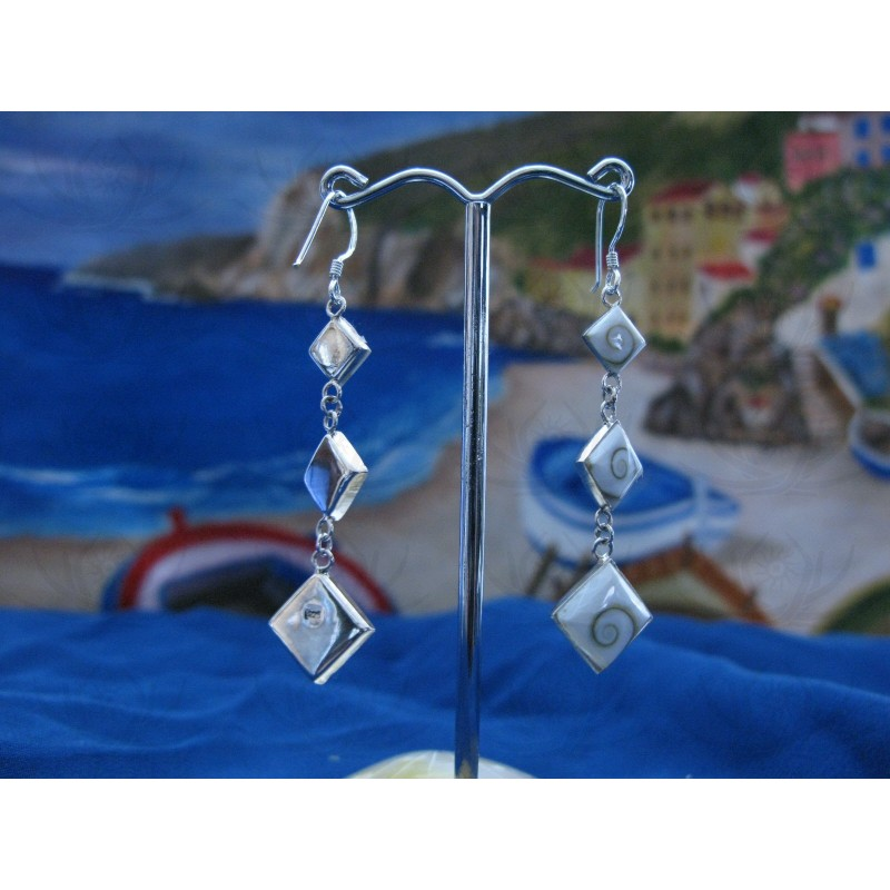 LE 0146 Earrings Shiva Eye Shell Silver
