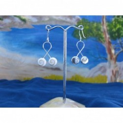 LE 0157 Earrings Shiva Eye Shell Silver