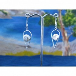 LE 0158 Earrings Shiva Eye Shell Silver