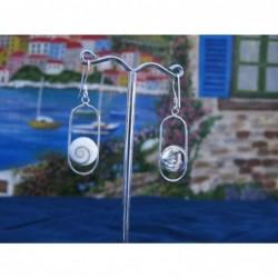 LE 0193 Earrings Shiva Eye Shell Silver