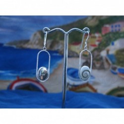 LE 0194 Earrings Shiva Eye Shell Silver