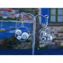 LE 0197 Earrings Shiva Eye Shell Silver