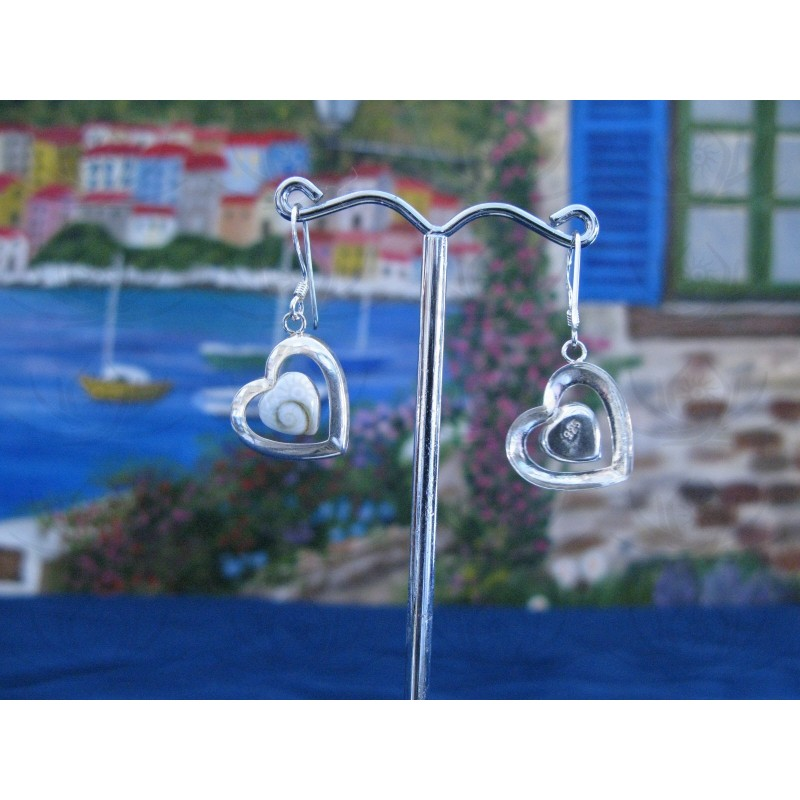 LE 0200 Earrings Shiva Eye Shell Silver
