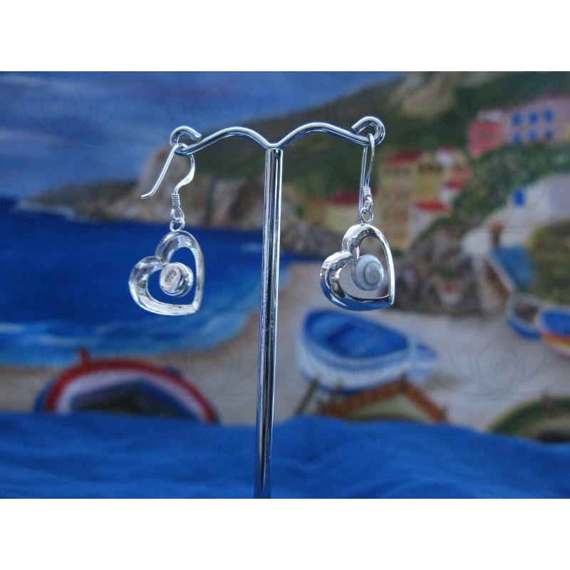 LE 0201 Earrings Shiva Eye Shell Silver