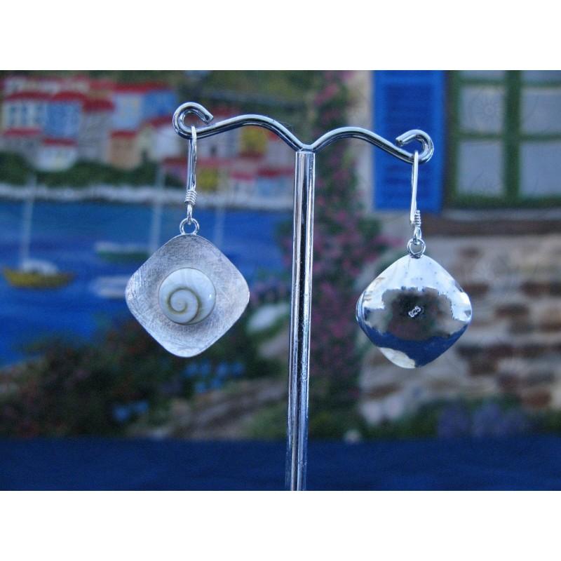 LE 0202ro Earrings Shiva Eye Shell Silver