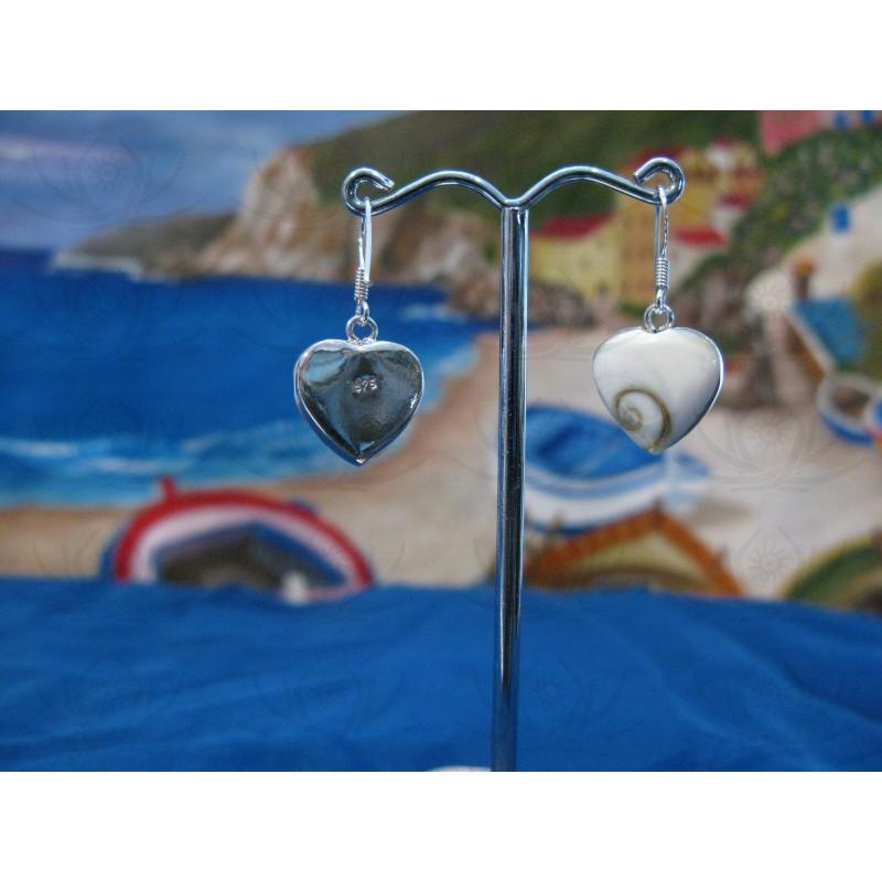 LE 0209 Earrings Shiva Eye Shell Silver