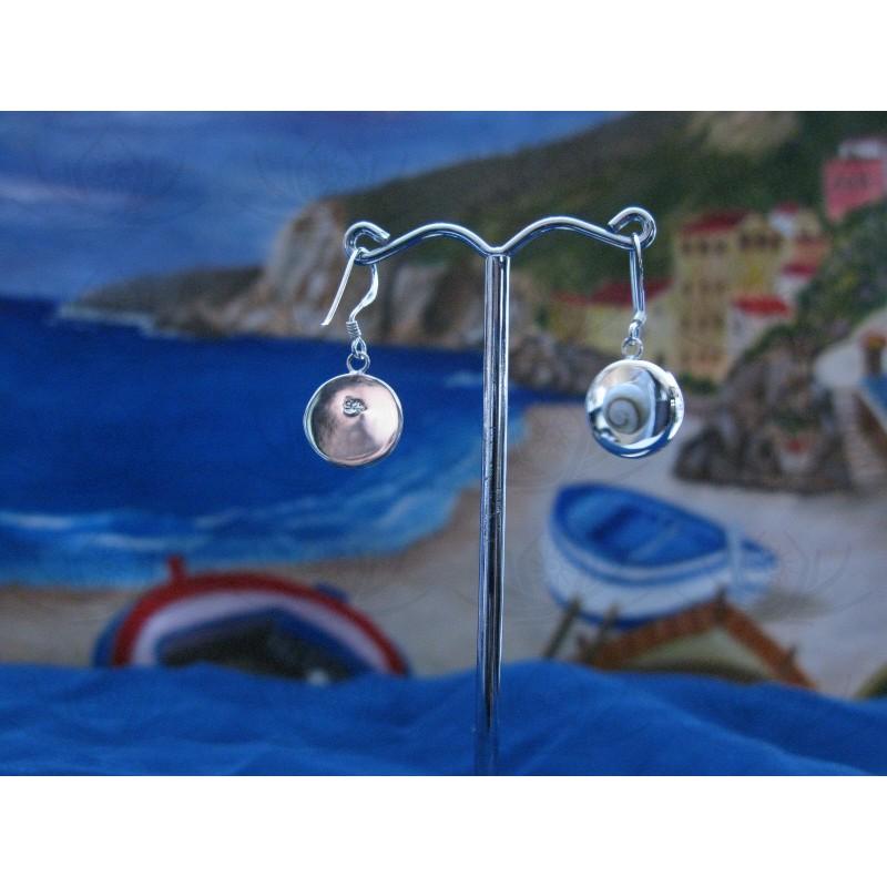 LE 0211 Earrings Shiva Eye Shell Silver