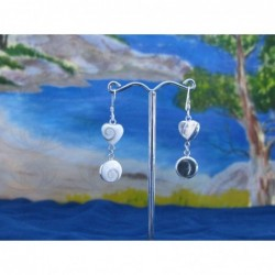 LE 0214 Earrings Shiva Eye Shell Silver