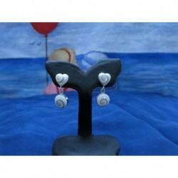 LE 0216s Earrings Shiva Eye Shell Silver