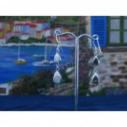 LE 0221 Earrings Shiva Eye Shell Silver