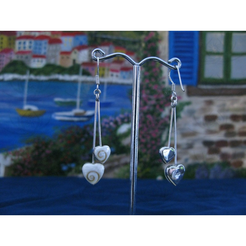 LE 0222 Earrings Shiva Eye Shell Silver