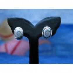 LE 0224s Earrings Shiva Eye Shell Silver