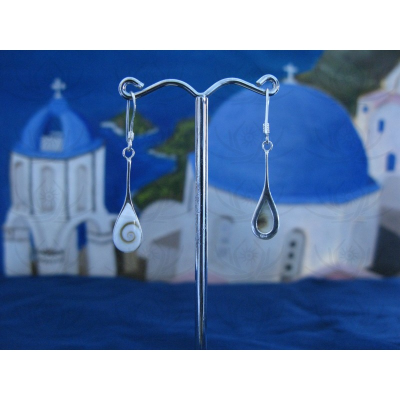 LE 0229 Earrings Shiva Eye Shell Silver