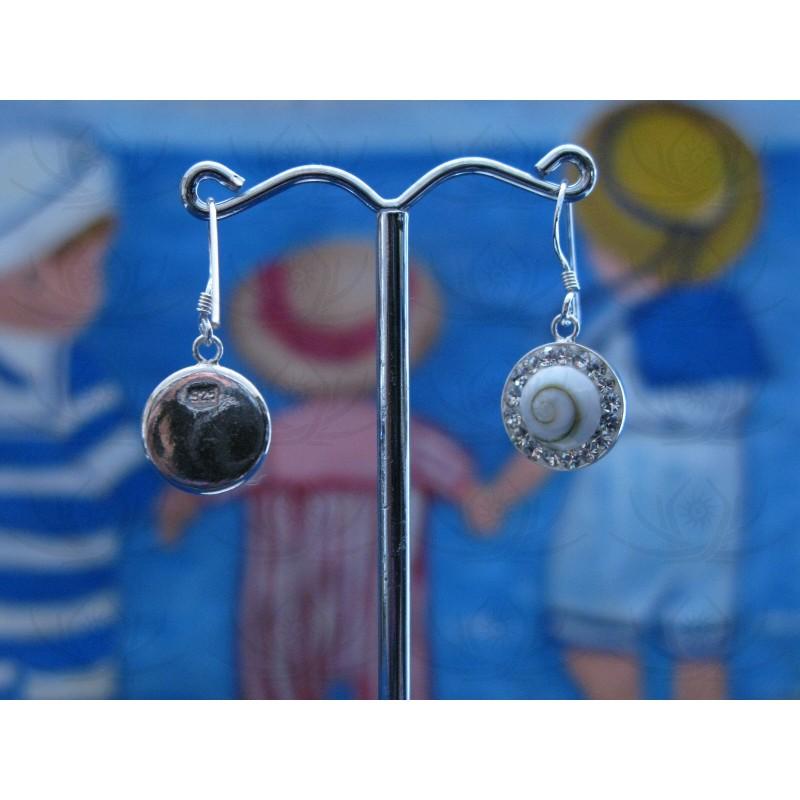 LE 0230 Earrings Shiva Eye Shell Silver