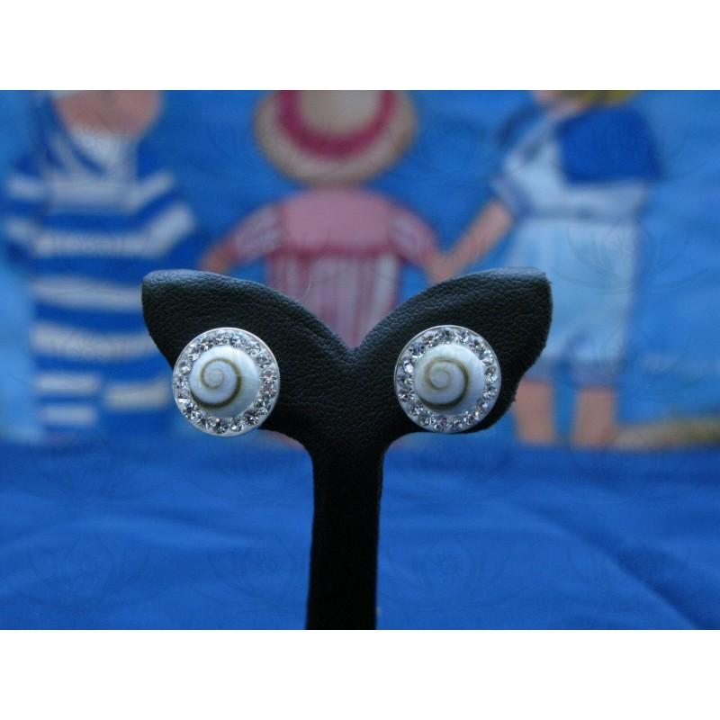 LE 0230s Earrings Shiva Eye Shell Silver