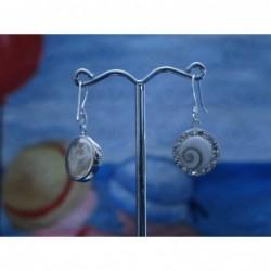 LE 0231 Earrings Shiva Eye Shell Silver