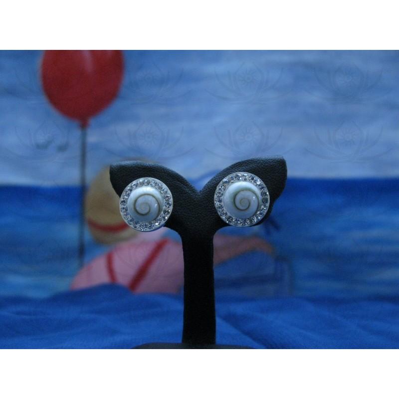 LE 0231s Earrings Shiva Eye Shell Silver