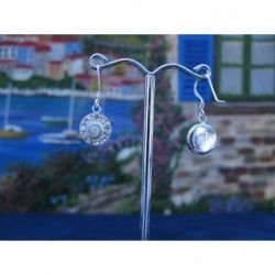 LE 0243 Earrings Shiva Eye Shell Silver