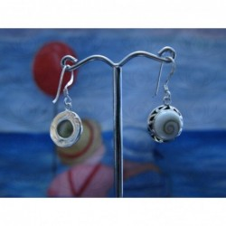 LE 0248 Earrings Shiva Eye Shell Silver