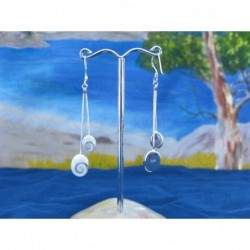 LE 0251 Earrings Shiva Eye Shell Silver
