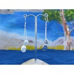 LE 0251 Earrings Shiva Eye Shell Silver