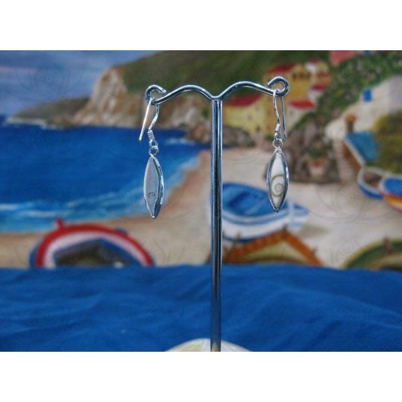 LE 0252 Earrings Shiva Eye Shell Silver