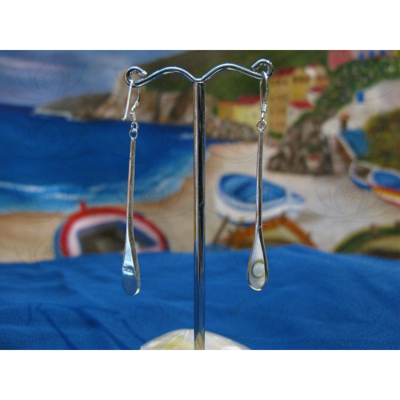LE 0253 Earrings Shiva Eye Shell Silver