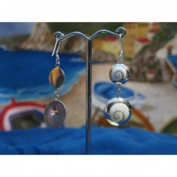LE 0255 Earrings Shiva Eye Shell Silver