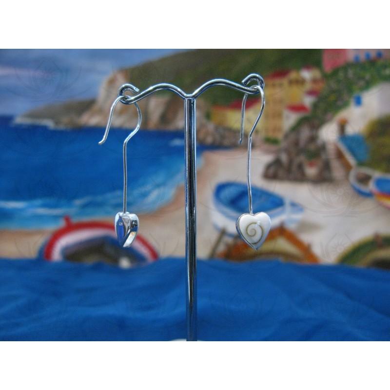 LE 0260 Earrings Shiva Eye Shell Silver