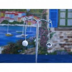 LE 0262 Earrings Shiva Eye Shell Silver
