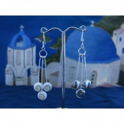 LE 0264 Earrings Shiva Eye Shell Silver