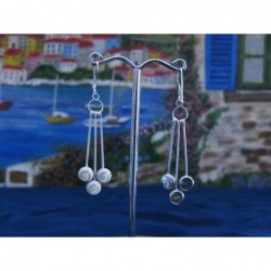 LE 0265 Earrings Shiva Eye Shell Silver