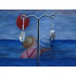LE 0272 Earrings Shiva Eye Shell Silver