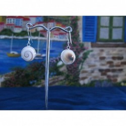 LE 0274 Earrings Shiva Eye Shell Silver