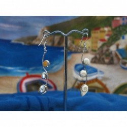 LE 0277 Earrings Shiva Eye Shell Silver