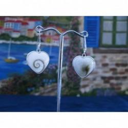 LE 0278 Earrings Shiva Eye Shell Silver