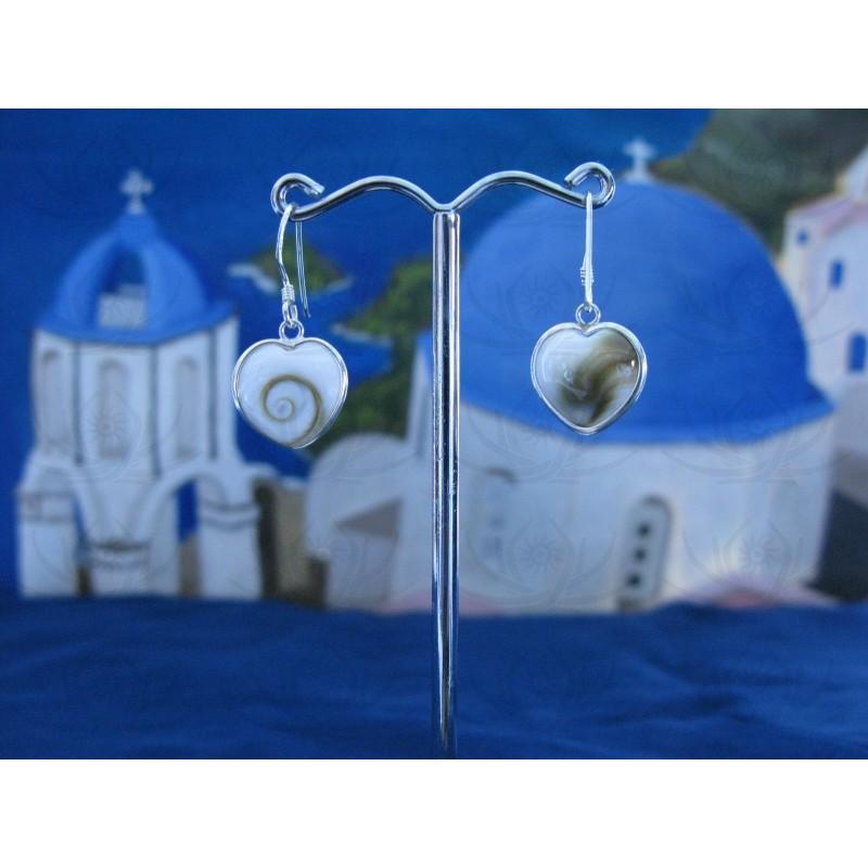 LE 0279 Earrings Shiva Eye Shell Silver