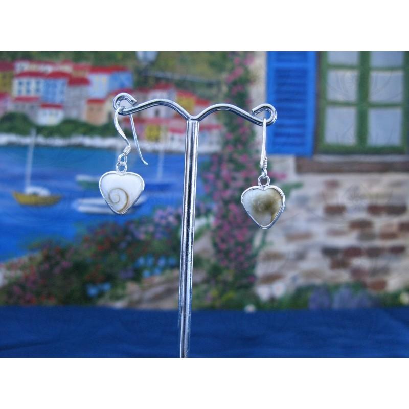 LE 0280 Earrings Shiva Eye Shell Silver