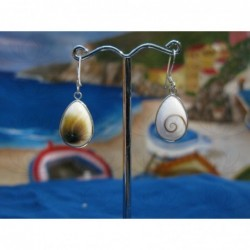 LE 0282 Earrings Shiva Eye Shell Silver