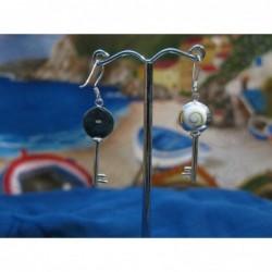 LE 0284 Earrings Shiva Eye Shell Silver